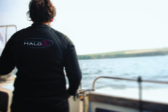 Drysuit undersuit on a boat surface interval
